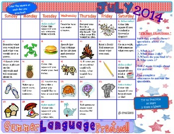 Language Skills Summer Practice ~ 2014