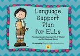 Language Support Plan for ELLs