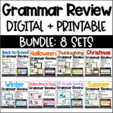 Language Task Cards Bundle: Seasonal & Holiday  {4th and 5