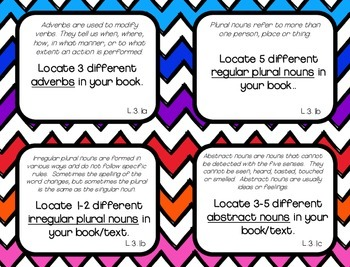 Language Task Cards -- CCSS Grade 3