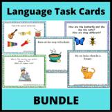 Language Task Cards Bundle: Semantics, Categories, Verbal