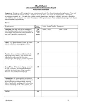 AP Language Terms Activities
