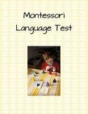 Montessori Language Test