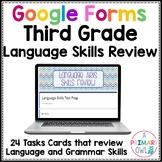 Language Test Prep DIGITAL Task Cards GOOGLE FORMS edition