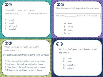 Language Test Prep Task Cards