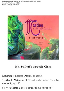 Language Therapy: 3rd Grade Curriculum Based Lesson Plan