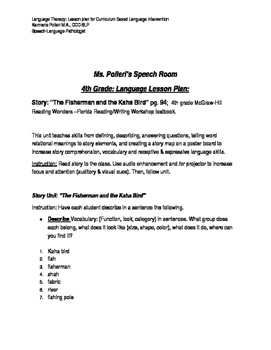 Language Therapy: 4th grade Curriculum Based Intervention