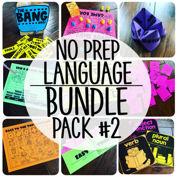 No Prep Language Therapy {BUNDLE PACK  #2}