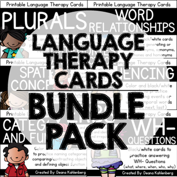 Language Therapy Cards {BUNDLE PACK}