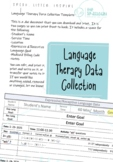 Language Therapy Data Collection Template