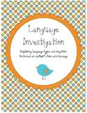 Language Types Investigation
