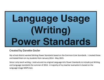 Language Usage (Writing) Power Standards (CCStandards)- Da