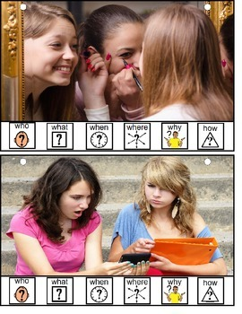 Language Visual Writing Prompts for Teens with Support Symbols {Autism}