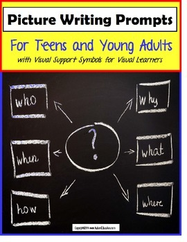 Language Visual Writing Prompts for Teens with Support Sym