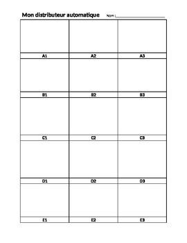 Language & Vocab Activity - Vending Machine Template