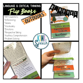 Critical Thinking & Higher-Level Language Flip Books {OUTDOORS / CAMPING}