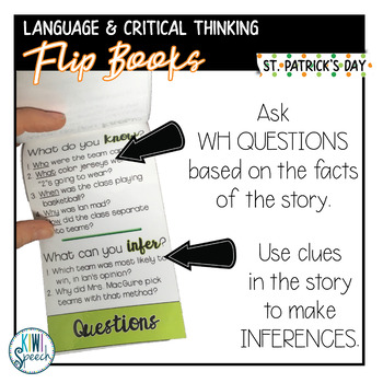 Critical Thinking & Higher-Level Language Flip Books {ST. PATRICK'S DAY}