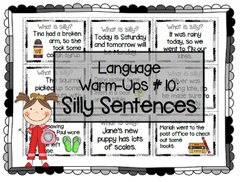 Language Warm-Ups #10: Silly Sentences for Speech/Language Therapy / ESL