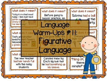 Language Warm-Ups #11: Figurative Language / Idioms Speech Therapy / ESL