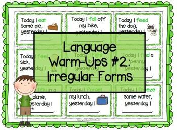 Language Warm-Ups #2: Irregular Forms for Speech/Language Therapy