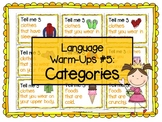 Language Warm-Ups #5: Categories for Speech/Language Therapy / ESL