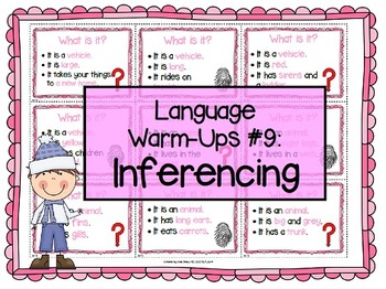 Language Warm-Ups #9: Inferencing for Speech/Language Therapy / ESL