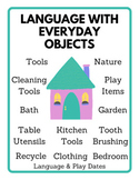 Language With Everyday Objects Bundle w/Parent Handouts
