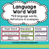 Language Word Wall (20 Terms, Definitions & Examples)