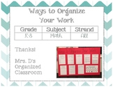 Language Work Organization Posters
