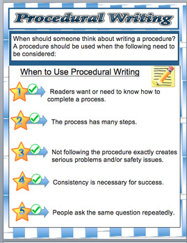 Language Writing A Procedure - (Instructions, Recipes) Step by Step  Text