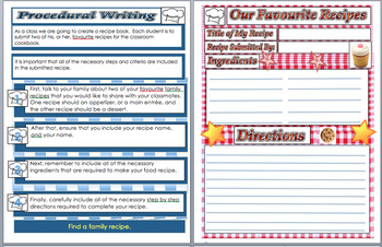 Language Writing A Procedure - (Instructions, Recipes) Ste