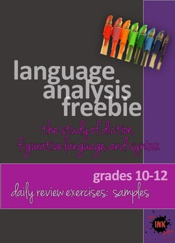 Language Analysis: Sample Powerpoint Daily Review Exercises