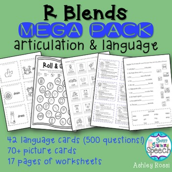 Speech Therapy Articulation and Language R Blends