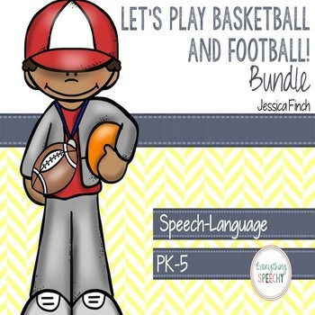 Football/Basketball Speech and Language BUNDLE