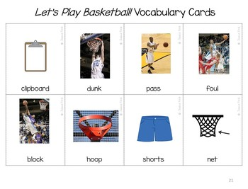 """Language and Speech Pack: """"Let's Play Basketball!"""""""