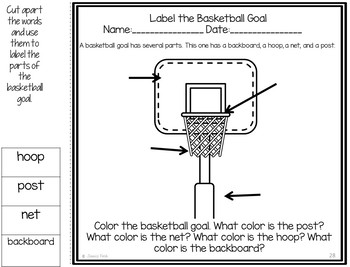 "Speech-Language Pack: ""Let's Play Basketball!"""