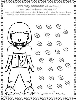 "Speech-Language Packet: ""Let's Play Football!"""