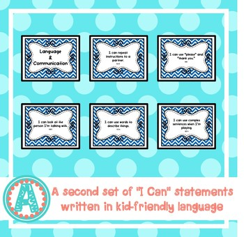 """Language and Communication """"I Can"""" Statements for Pre-K and Preschool"""