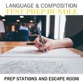 Language and Composition Test Prep Bundle: Prep Stations and Escape Room
