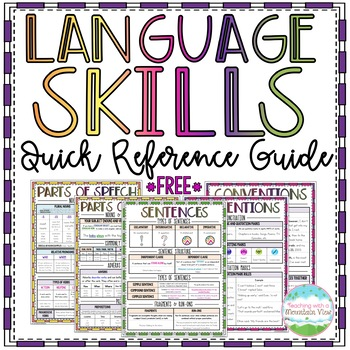 Language and Grammar Skills Quick Reference Guide