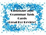 Language and Grammar Task Cards