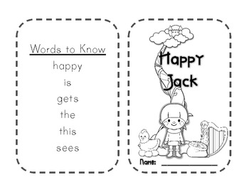 Language and Literacy Connections:  Happy Jack Little Book