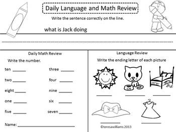 Language and Math Daily Review