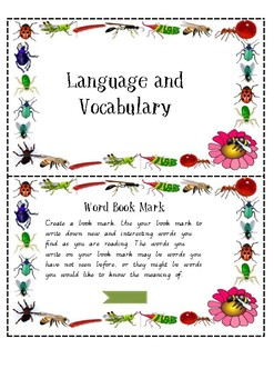Language and Vocabulary Task Cards