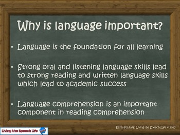 Language and the Classroom-A presentation for teachers/staff