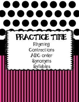Language arts Practice Time!