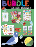 Language arts vocabulary: Animal educational games BUNDLE