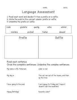 Language assessment
