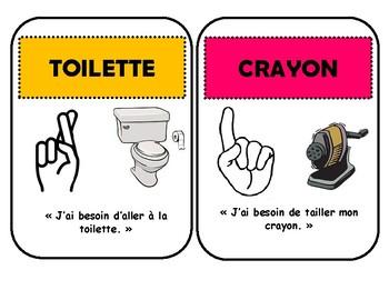 Langage de signe - gestion de classe / Class sign language posters FRENCH