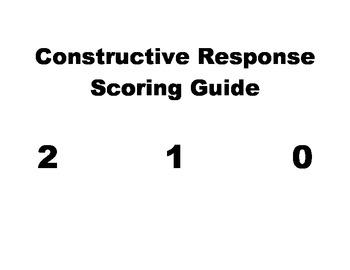 Language description for Constructed Response Scoring